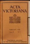 Acta Victoriana 50 : 5