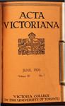 Acta Victoriana 50 : 7
