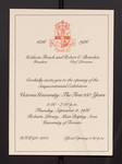 Invitation, Sesquicentennial Exhibition - Victoria University: The First 150 Years