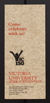 "Brochure, ""Come Celebrate with Us - Victoria University Sesquicentennial"""