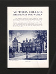 Victoria College Residences for Women brochure