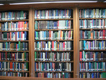 Emmanuel College Library shelves filled with books