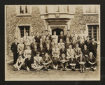 Residents of South House in front of Burwash Hall