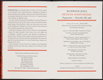 Programme, Burwash Hall 50th Anniversary - inside