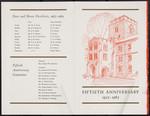 Programme, Burwash Hall 50th Anniversary - outside