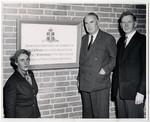 Mrs. Clara McEachren dedicating the cornerstone of the new Wymilwood building