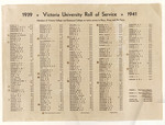 Victoria University Roll of Service 1939-1941