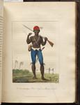 A Coromantyn Free Negro, or Ranger, armed. [Colour Version]