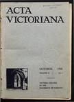 Acta Victoriana 55 : 1