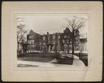[Exterior front of Annesley Hall with iron fence]