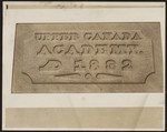 Date stone of Upper Canada Academy