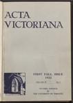 Acta Victoriana 57 : 1