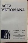 Acta Victoriana 58 : 1