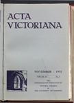 Acta Victoriana 58 : 2