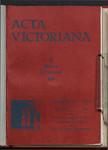 Acta Victoriana 58 : 3
