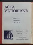 Acta Victoriana 58 : 4