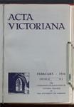 Acta Victoriana 58 : 5