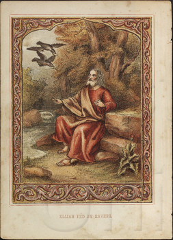 Elijah fed by ravens.