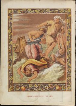 Jonah cast into the sea.