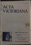 Acta Victoriana 59 : 1
