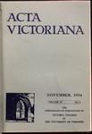 Acta Victoriana 59 : 2