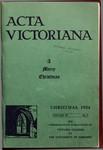 Acta Victoriana 59 : 3