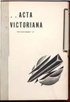 Acta Victoriana 60 : 2