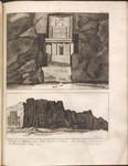 Plate II. Temple of Mithras near Naki Rustan in Persia. Also Temples in the rock near the Plain of the Magi.