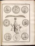 Plate VI. Hieroglyphica Sacra ex Gorlaeo, Seguina, et Kirchero desumpta
