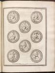 Plate VIII. Mater Deorum cum modio, et turre Homo in aquis, natabundus.