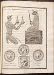 Plate XVI. Meno Taurus Ægyptiacus Biceps cum Sacerdote Supplicante. Tauro-Menes, et Tauro-Menes Siculus. Meno-Taurus. Al Arkæus.