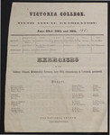 Victoria College Ninth Annual Examination and Exercises