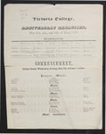 Victoria College Anniversary Exercises and Commencement