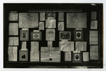 Display cases used in historical exhibit for 100th anniversary celebration: University of Victoria College, Cobourg