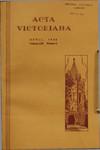 Acta Victoriana 62 : 6