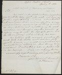 [Letter] 1830 April 30, Upper Norton Street, London [to] Mr. White.