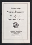 Annual Convocation of Victoria University and Closing Exercises of Emmanuel College