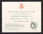 Invitation, President's Christmas Tea, 1988