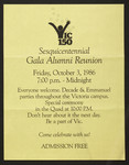 Poster, All Years' Gala Reunion, 1986