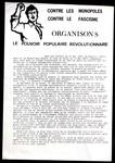 Contre les monopoles, Contre le fascisme, Organisons le pouvoir populaire revolutionnaire.