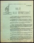 Halte à la repression!