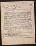 Commune : bulletin hebdomadaire des Comités étudiants pour un mouvement révolutionnaire.