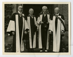 [E.W. Wallace with men at 100th anniversary convocation]