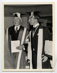 [Lord Tweedsmuir with George Fallis at 100th anniversary convocation]