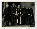 [Lord Tweedsmuir with men at 100th anniversary convocation]