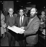 President French, Gregory Sorbara, Robert Brandeis, and Mary Jackman