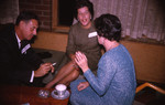 [Wilfred Currie Wilson, Mrs. Norma Thompson(?) Wil(?), and Irene Pype at 3T5 Spring Reunion, 1965]