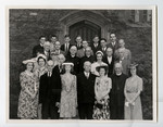 Walter S. Herrington with members of Class of 93 and honor students, Class of 43 at Convocation, 1943