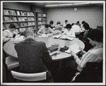 [Students studying at the E.J. Pratt Library]
