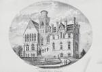Drawing of Faraday Hall, Cobourg